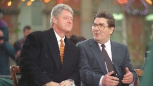 President Bill Clinton with John Hume, Nobelist and credit union founder