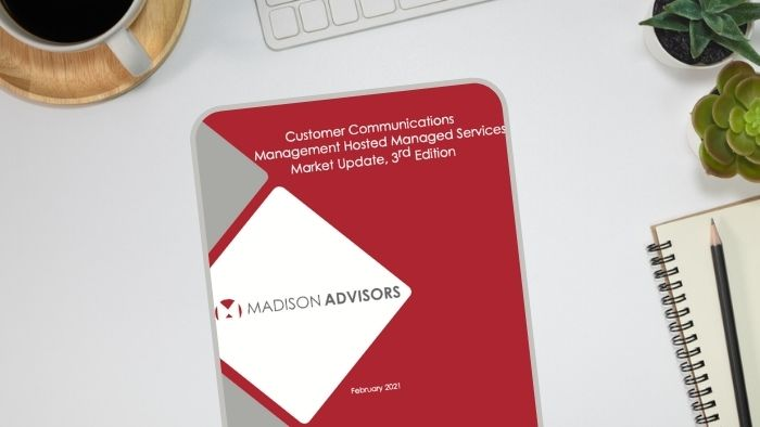 image of the Madison Advisors report on CCM for hosted managed services