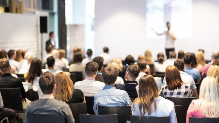 view of a customer engagement event